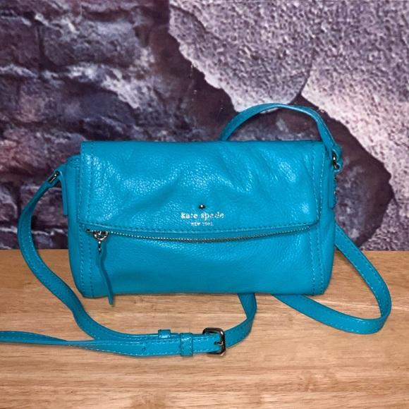 Kate Spade Mini Leather Crossbody Fold Over Bag